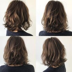 80 Bob Hairstyles To Give You All The Short Hair Inspiration - Hairstyles Trends Pretty Hairstyles, Bob Hairstyles, Medium Permed Hairstyles, Hairstyle Ideas, Bob Haircuts, Medium Hair Styles, Curly Hair Styles, Medium Short Hair, Shoulder Length Hair