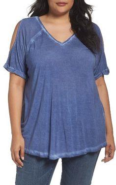 2c9df5d0c67 Plus Size Women's Caslon Cold Shoulder Tee Plus Size Women's Tops, Cold  Shoulder, Nordstrom