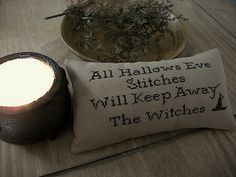 Free Halloween Cross Stitch Chart - Calling All Witches who Stitch! From Our Pioneer Homestead (ourpioneerhomestead.blogspot)