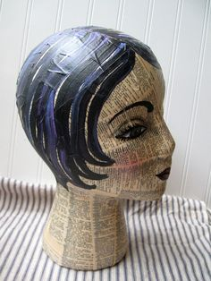 Mannequin Head mixed media Collage and by hopeandjoystudios
