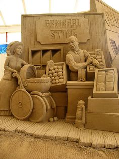 The General Store sand sculpture