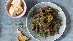 Polenta, Asparagus, Beef, Vegetables, Food, Meal, Essen, Vegetable Recipes, Hoods