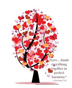 """""""Love…binds everything together in perfect harmony."""" ~Colossians 3:14"""