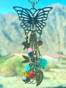 DIY your photo charms, 100% compatible with Pandora bracelets. Make your gifts special. Make your life special! Butterfly Charms and Chain Dangle Pendant Rear View Mirror Car Charm | eBay