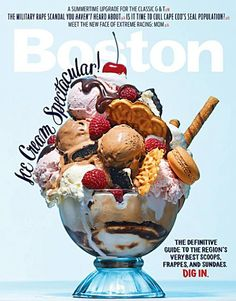 Boston Magazine (US) love the wrapped type