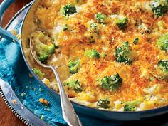 Cheesy Broccoli-and-Rice Casserole - Spectacular Thanksgiving Sides - Southernliving. Recipe: Cheesy Broccoli-and-Rice Casserole Thanksgiving Casserole, Best Thanksgiving Recipes, Thanksgiving Side Dishes, Holiday Recipes, Christmas Recipes, Holiday Foods, Thanksgiving 2016, Thanksgiving Desserts, Party Recipes