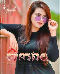 Attitude Girl Amna Name Dp
