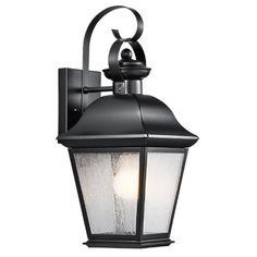 9708BK Mount Vernon 1-Light 17-Inch Outdoor Wall Lantern, Black Finish with Clear Seedy Glass Kichler Lighting http://www.amazon.com/dp/B00D7BU112/ref=cm_sw_r_pi_dp_ZSRvub0DVDPDV