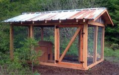 NW style chicken coop with rustic metal roof, Craigslist hen house