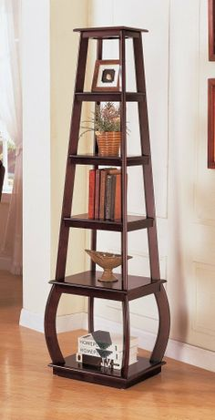 amazoncom coaster square tiered bookcase in cappuccino furniture decor amazoncom coaster shape home office