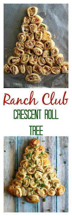 Ranch Club Crescent Roll Tree is the perfect holiday recipe made with @pillsbury crescents #ad #ItsBakingSeason