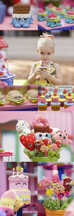 O tema de aniversário de 3 anos da Nini foi Shopkins. Ela ama brincar de Shopkins!
