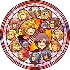 Organization XIII stained glass