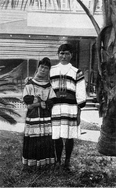 A Seminole Indian bride and groom (ca. 1920). | Florida Memory
