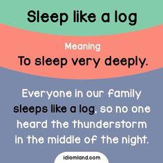 Do you sleep like a log? :)
