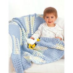 Free Easy Baby's Blanket Crochet Pattern