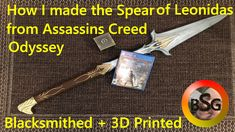 How I made the Spear of Leonidas from Assassins Creed Odyssey Presented by the Blacksmithing Gamer Assassins Creed Odyssey, Blacksmithing, 3d Printing, Corner, Blacksmith Shop, Impression 3d, Blacksmith Forge, Wrought Iron