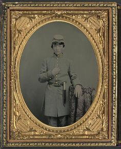 Unidentified young soldier in Confederate uniform with Bowie knife; hand colored ambrotype, unknown photographer;  part of the Liljenquist Family Collection of Civil War Photographs, LOC; Call Number:  AMB/TIN no. 3139[P&P]