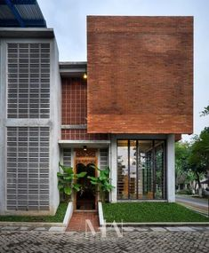 House Front Facade Dream Homes 34 Best Ideas Brick Design, Facade Design, Exterior Design, Brick Architecture, Residential Architecture, House Front Design, Modern House Design, Industrial House, Facade House