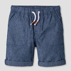 Toddler Boys' Pull-On Shorts Cat & Jack Blue Chambray 4T, Toddler Boy's