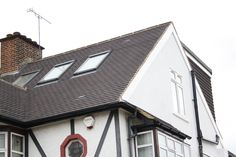 Rear dormer hip to gable loft conversion exterior Dormer Loft Conversion, Loft Bathroom, Attic Bedrooms, Roof Window, Cladding, Bedroom Decor, Window Ideas, Exterior, House