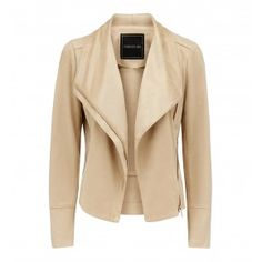 Fleur suedette waterfall jacket Tan - Womens Fashion | Forever New