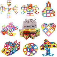 Magnetic Tiles Building Blocks Set by idoot Educational Toys for Kids with Storage Bag - >>> Check this awesome product by going to the link at the image. (This is an affiliate link) Magnetic Building Blocks, Building Toys, Toys For Boys, Kids Toys, Stacking Toys, Thing 1, Developmental Toys, Educational Toys For Kids, Kits For Kids