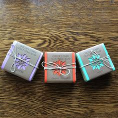 Handmade soap is one of my favorite gifts to give and receive. I'm looking forward to using these lovelies from @chicoryfarm, but for right now I'm smiling about their colorful cut paper wrappers.