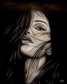 Woman contrast artwork! #lady #contrast #artsy #woman #hair #eyes #drawing #style #blackandgrey #nyc #europe #portrait #losangeles #la #socal #ink #pen #eye #beautiful #woman #3d #art #artwork #artist #tattoos #tattoo #socal #cali #westcoast