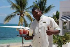 Say hello to, Kirk! Ready to greet you at Couples Tower Isle Resort