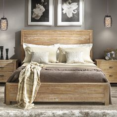 Features:  -Material: 100% Solid pine wood from renewable forests.  -Eco-friendly.  Distressed: -Yes.  Box Spring Required: -Yes.  Headboard Type: -Panel.  Frame Material: -Wood.  Box Spring Included: