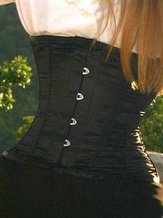 Satin Stilet Corset, black
