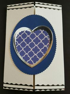 #handmadecard #hearts card could be used for #valentinesday or just because c6 cream gatefold card