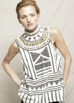 Sass & Bide Collection-I especially like the cowry shells.  From Brandie@outandaboutafrica.blogspot.com