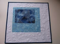 Ghost Leaves - Designed and quilted by Debbie Stanton. STUNNING!