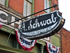 A. Schwab, 163 Beale Street, Memphis, Tennessee. A. Schwab dry goods store is the only remaining original business on Beale Street in Memphis, Tennessee. A. Schwab is the oldest store in the Mid-South.