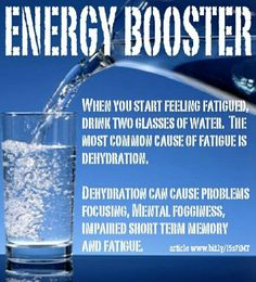 All Natural Energy Booster? Water. #Health #Fitness #Trusper #Tip