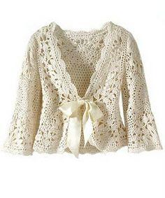Wanda Arte em Croche: Casaco Cru em Croche