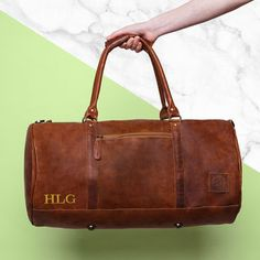 Personalised Leather Clic Duffle