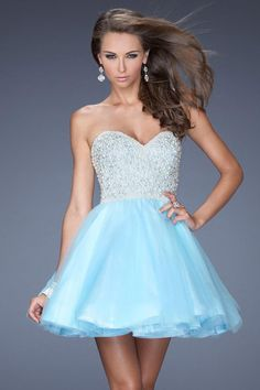 2014 Stunning Mini Sweetheart A Line/Princess Chiffon Dresses Beaded Bodice USD 129.99 LDP6R2M8G3 - LovingDresses.com