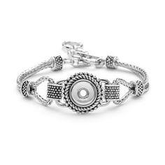 "Mini Lariat Bracelet Double Strand Chain-Length 7""-8.5""- Holds 12mm Mini Snaps M0194--$37.99"