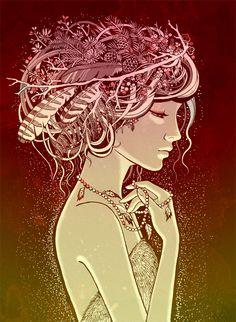 Scandinavian mythology by Anna Novikova, via Behance