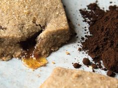 These shortbread cookies from 'Ovenly' are filled with a caramel and finely ground espresso.