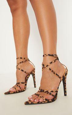 b57153fcc4c Leopard Print Point Toe Strappy Sandal