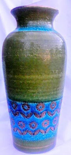 Bitossi Rosenthal Netter Italian Art Pottery Vase HUGE McCobb Londi Raymor Bagni