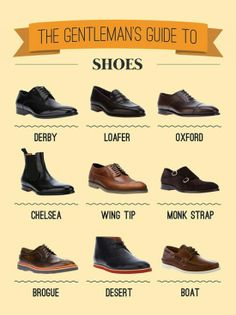 ::Gentleman's Shoe Types Infographic::
