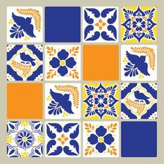 Talavera Tiles Wall Stencils