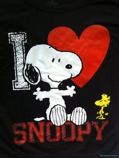 SNOOPY & WOODSTOCK~I love snoopy