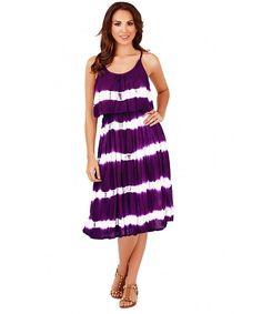 Ladies, Pistachio, Tie Dye Striped Pleat Overlay Short Dress, Blue Waves, Small (US Short Dresses, Summer Dresses, Women's Dresses, Casual Dresses, Navy Stripes, Purple Dress, Lady, Overlay, Tie Dye
