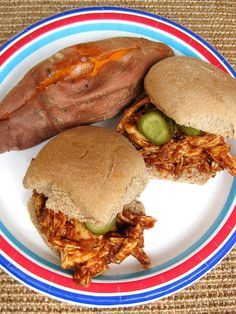 a hint of honey: Grilled Pulled Chicken Sandwiches